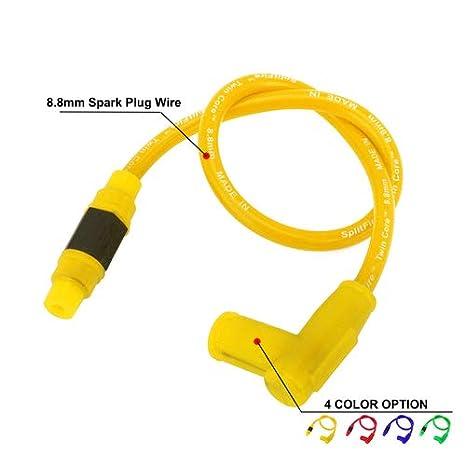 FastPro Cable de Encendido Motocicleta, Cables de bujía para Todas Las Motocicletas de 50 cc-250 CC: Amazon.es: Coche y moto
