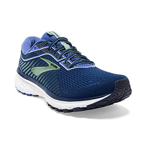 Brooks Womens Ghost 12 Running Shoe - Peacoat/Blue/Aqua - 2A - 9.5
