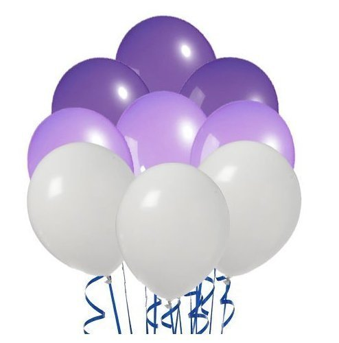 Perfect Color Inflatables Violet Purple White Pack of 20 -