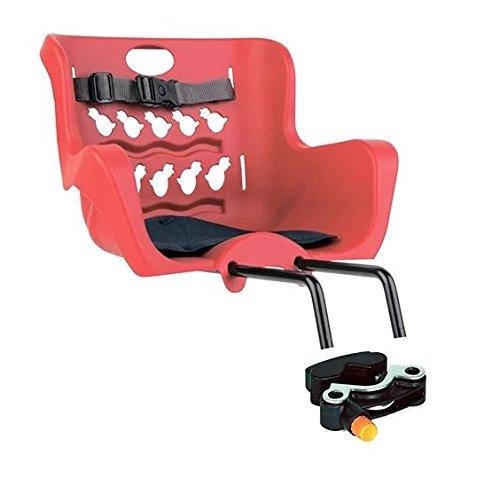 Bellelli® Pulcino - Asiento infantil para bicicleta (montura en la horquilla delantera, fabricado en Italia, súper seguro...