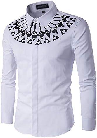 NDY Shirt Männer nehmen V-Ausschnitt Design Fester Farbdruck Persönlichkeit beiläufigen Komfort-Revers Langarm-Jugend Mode Joker Kreative Trend