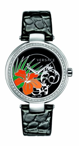 Versace Women's I9Q91D9HI S009 Mystique Stainless Steel Black Sunray Dial Watch