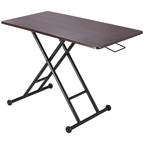 Svitlife Height Adjustable Converter Sit-Stand Computer Desk Laptop Table Slim Up 1x Modern New Home Office 36 Furniture by Svitlife