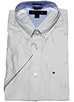 Tommy Hilfiger Mens Classic Fit Short Sleeve Woven Shirt