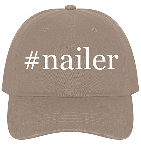 The Town Butler #Nailer - A Nice Comfortable Adjustable Hashtag Dad Hat Cap, Khaki