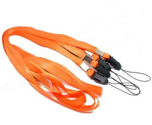 CKB Ltd 50 x Orange Naranja Laccetto Portabadge Laccio da collo Laccetti Multiuso per PortaBadge Cellulare Lanyard Neck Strap For ID Card / Mobile Phone /Gym Key / Access Pass Holder Loop Clip