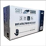 SAFE GUARD Nitrile Gloves, Powder Free, Disposable