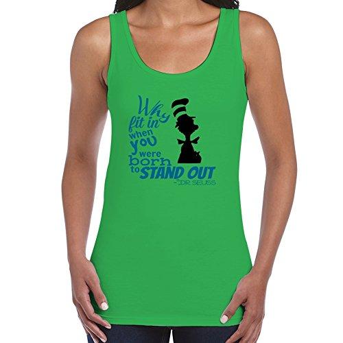Dr Seuss Embroidery (Green Dr. Seuss Quote Creative Design X-large Organic Cotton Women)