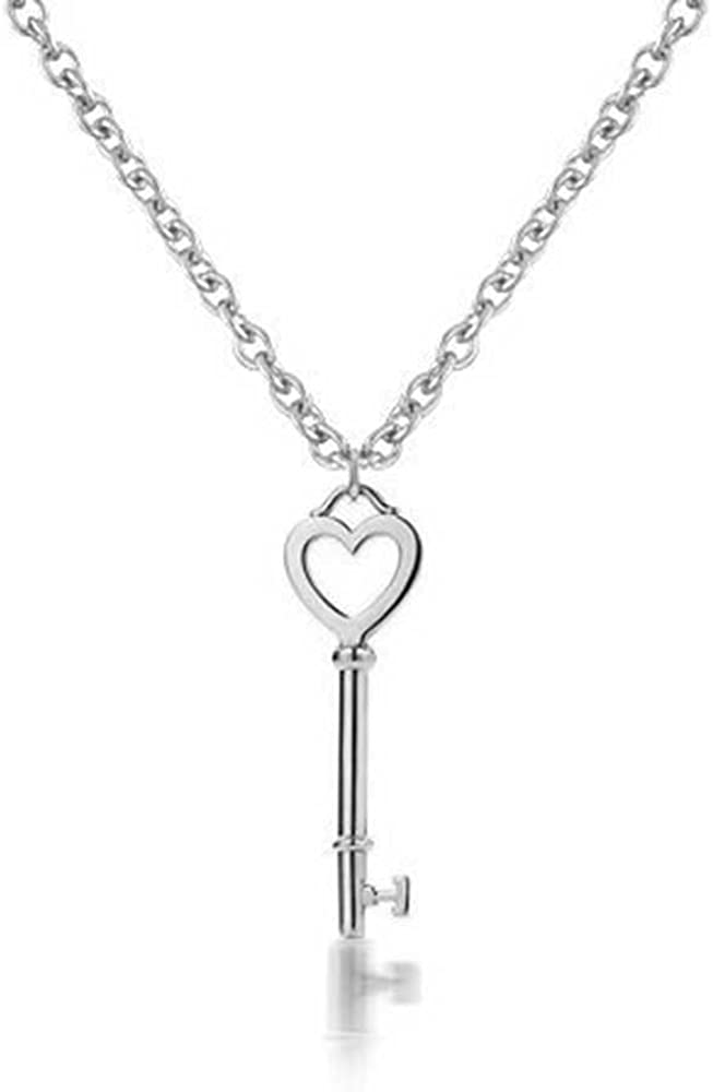 Valentine/'s Day Love Gift Circle Heart Necklace 1//3 ct tw Created Diamonds 14K White Gold Plated