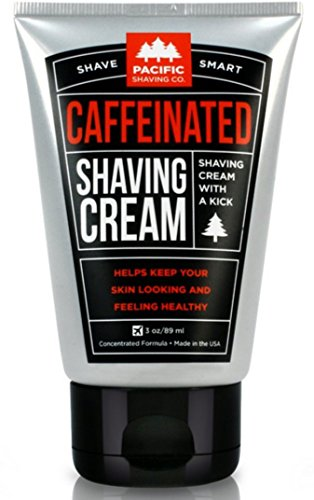 Pacific Shaving Company Caffeinated Shaving Cream - Helps Reduce Appearance of Redness, With Safe, Natural, and Plant-Derived Ingredients, Soothes Skin, No Parabens, Made in USA, 3 oz. (6 Pack)