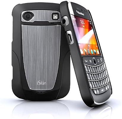 iSkin AR9900-BK2 Aura Hybrid Case for BlackBerry 9900/9930 Bold Touch  - 1 Pack - Retail Packaging - Black