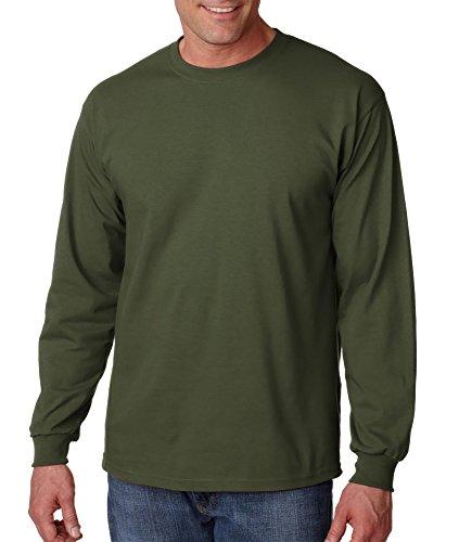 Gildan 6.1 oz. Ultra Cotton Long-Sleeve T-Shirt, Military Green, L