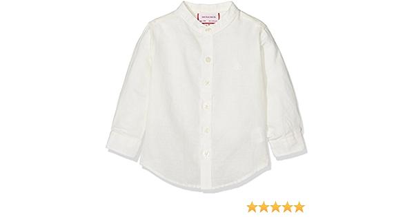 neck & neck 17V07018.10 Camisa BOTÓN, Blanco Roto, 9M Niño ...