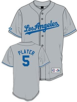 detailed look a522b d84a9 Hong-Chih Kuo Jersey: Los Angeles Dodgers Adult Away Gray ...