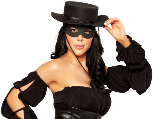Roma Costume Zorro Hat Costume, Black, One Size -
