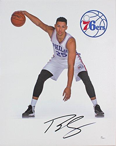 - 76ers Ben Simmons Authentic Signed 16x20 Canvas Autographed JSA #U24296