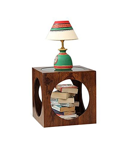 Ringabell Solid Wood End Table (Rich Honey)
