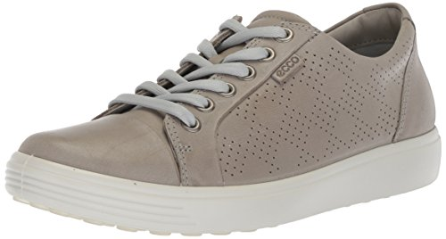 ECCO Women's Soft Perforated Fashion Sneaker, Wild Dove Nubuck, 40 M EU (9-9.5 US)