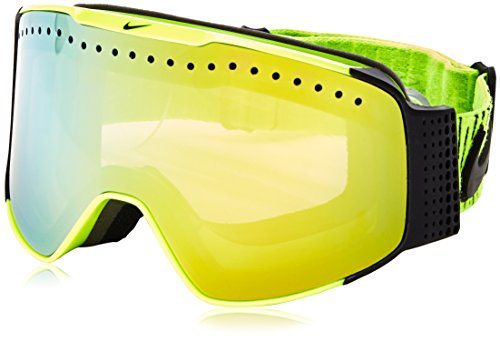 Nike Fade Goggles, Volt/Black Frame, Smoke Gold + Yellow Red Ion - Goggles Dragon Nike