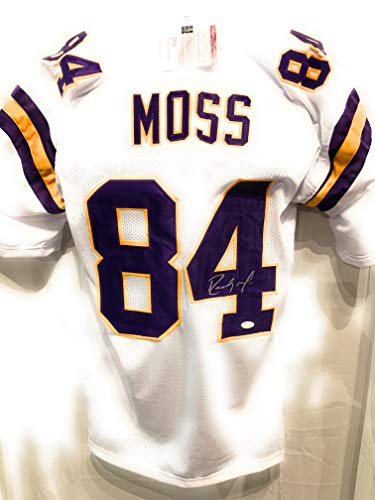 e89007824 Randy Moss Minnesota Vikings Signed Autograph Custom White Jersey JSA  Witnessed Certified