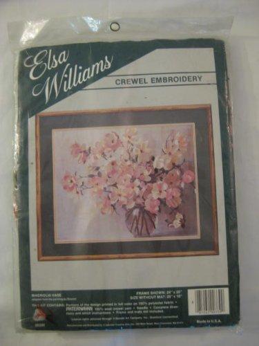 Amazon Elsa Williams Crewel Embroidery Kit Magnolia Vase
