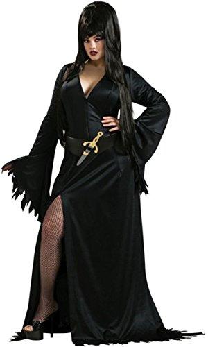 Morris Costumes Women's Elvira Plus Costume, 14-16 - Elvira Costume Size 14