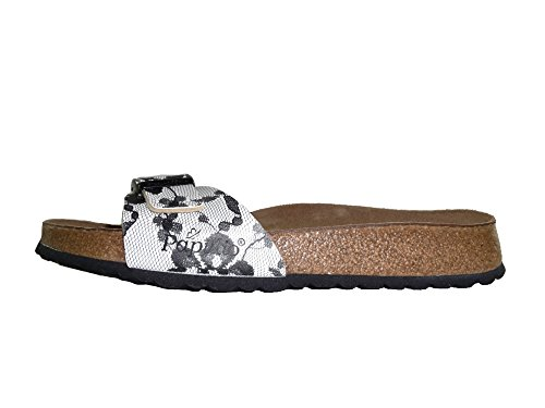 Papillio Madrid Cork flower turquoise 271973 - Zuecos para mujer LACE BLACK NEW