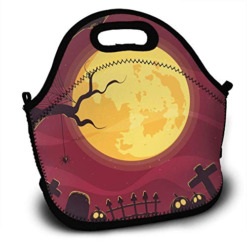 Halloween Portable Lunch Tote Bags, Takeaway Lunch Box,