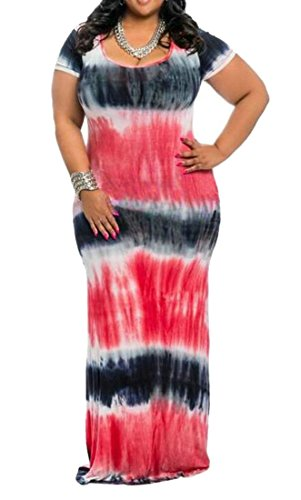 Long Striped Red Print Fit Short Dresses Crewneck Cromoncent Sleeve Womens 0a7pwp