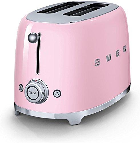 Smeg 2 Slice Toaster Pink (Large Image)