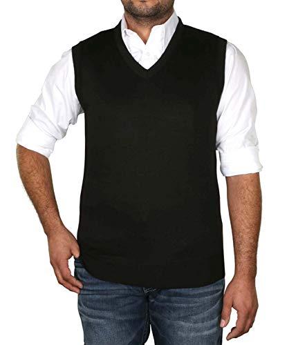 True Rock Men's Argyle V-Neck Sweater Vest-Black-Large for sale  Delivered anywhere in USA