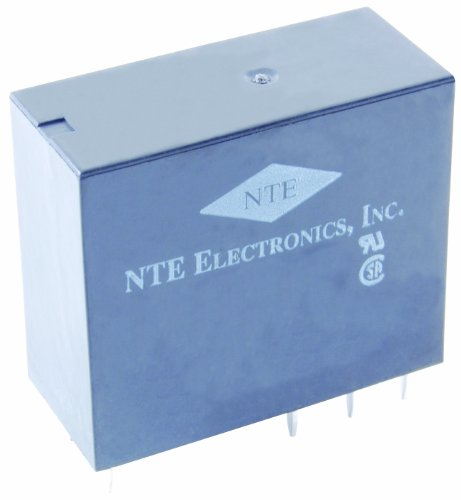 (NTE Electronics R25-11A10-120 Series R25 PC Board Mount Epoxy Sealed Relay, DPDT, 10 Amp, 12VAC)