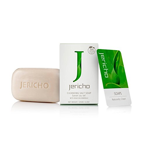 Jericho Cosmetics - Original Dead Sea Salt Soap Bar - Cleansing and Soothing Minerals from the Dead Sea. Moisturizing and hydrating for Face and Body for All Skin Types (Dead Sea Minerals Cosmetics)