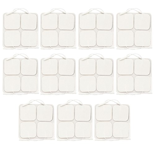 Dr  Fredericks Original 44 Pack Multistick Self Adhesive Tens Electrodes   2  Square   Heavy Gauge Leads   Pre Gelled   Tens   Fes   Nmes
