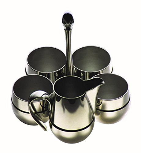 Mepra 20094005 Palace 5 Piece Sugar, Milk and Coffee Set, Stainless Steel by MEPRA