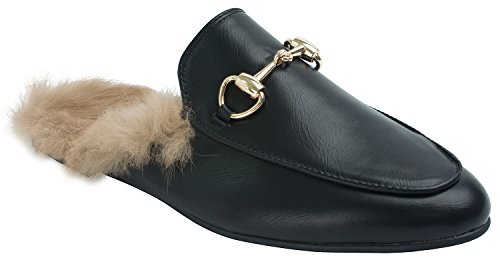 annakastle-womens-fur-lined-backless-loafers-slip-ons-slippers-us-75-black