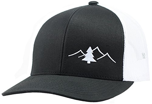 LINDO Trucker Hat - Great Outdoors Collection (Black/White)