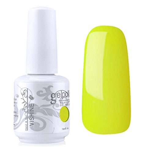 Vishine Vernis à ongles Semi,permanent Soak,off UV LED Gel Polish Manucure  Base Top Coat Jaune (1474) Amazon.fr Beauté et Parfum