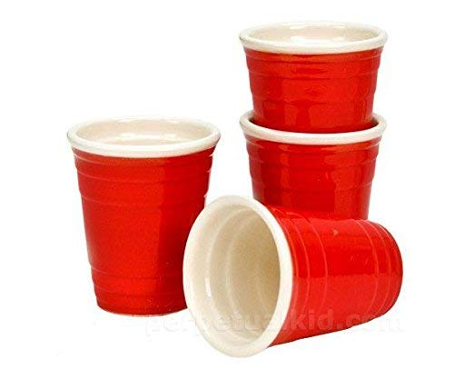 drinkmate 20 Mini Red Cups Disposable Shot Glasses 2 oz (Red Solo Shot Cups)