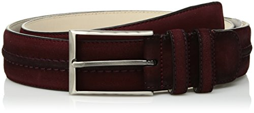 Mezlan Men's Belts Men's Naville Suede, red, 420 (Mezlan Suede Belt)
