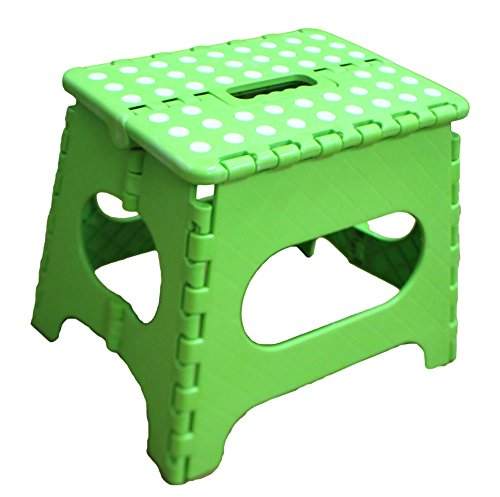 Jeronic 11 Inches Folding Stool For Adults And Kids Green