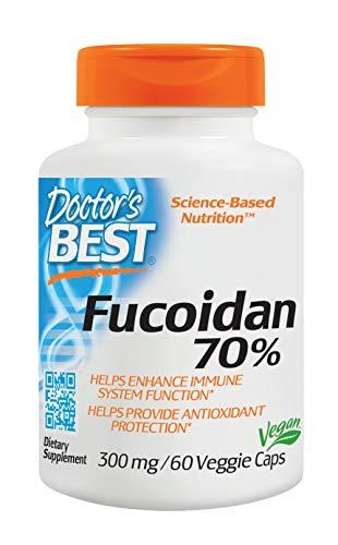 Doctor's Best Fucoidan 70%, Non-GMO, Vegan, Gluten Free, 60 Veggie Caps ()