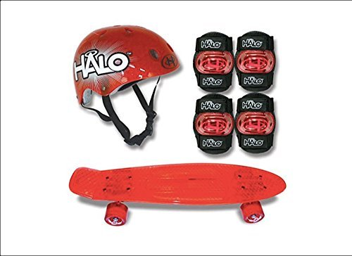 "Halo 6-Piece 23"" Skateboard Combo Set – Red"