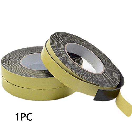 (Foam Insulation Tape Adhesive, Single Sided Adhesive Waterproof Weather Stripping Foam Sponge Rubber Strip Tape Door Seal, Neoprene Rubber Self Adhesive Strip - Craft Foam Tape(3mm10mm5m))
