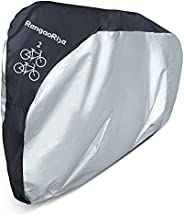 RengaoRise Bike Cover for 2 Bikes Outside Waterproof, Heavy Duty 210D Oxford Bicycle Cover for Two Bikes Stora