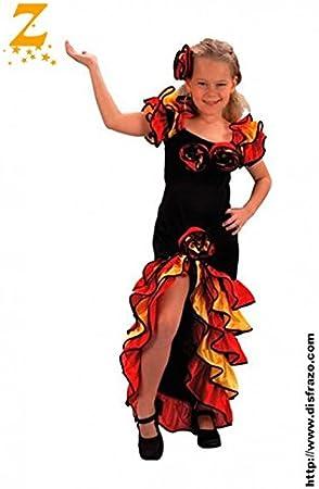 Andaluz Disfraz Rumbera Infantil T. 10-12: Amazon.es: Hogar