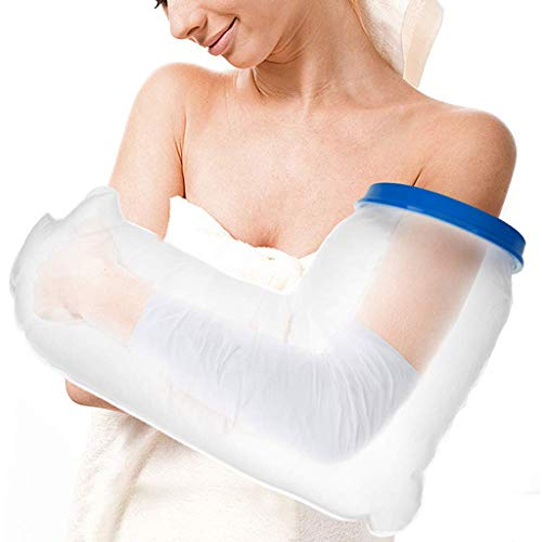 (Waterproof Arm Cast Cover Protector for Shower Bath, Keeps Casts Bandages Dry, Durable Reusable Cast Sleeve Bag Cover Adult Full Arm Wound Burn Hands Wrists Fingers Elbow)