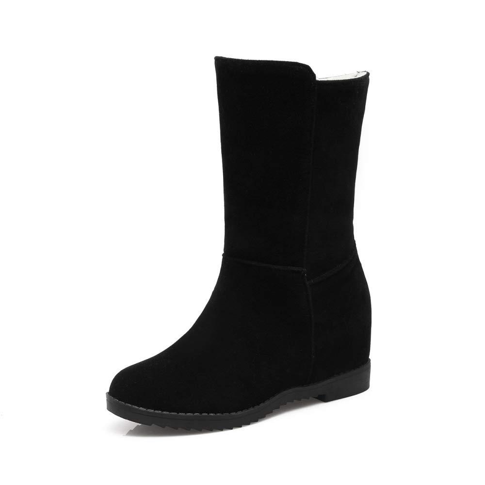 Frauen Einfache Knie Stiefel 2018 Herbst Winter Hochhackige Ritter Stiefel Größe 30-50 Kurze Stiefel
