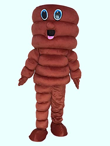 rushopn Brown Tornado Cyclone Hurricane Mascot Costume