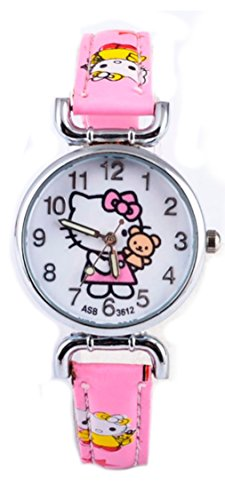 Hello Kitty Girls Watches Light Pink Wristwatch Children Hello kitty Watch HKW